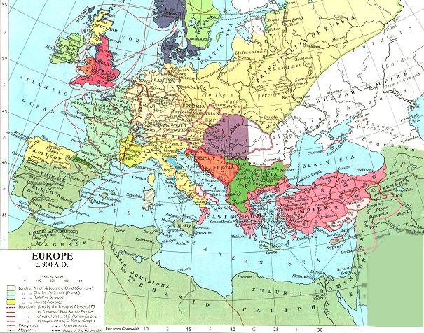 900 AD Europe
