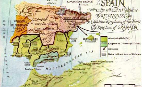 Map Of Spain 1492.1147 1492 Ad Spain Reconquest